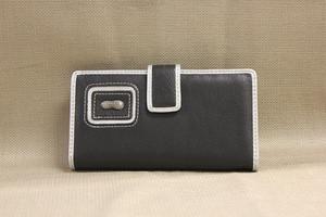 Ladies Checkbook- Black/Silver
