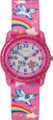 Timex TW7C25500 Youth Pink Rainbows/Unicorns Adjustable Elastic Fabric Strap Watch G818-TW7C25500