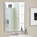 Rectangular 31.5-inch Bathroom Vanity Wall Mirror with Triple-Bevel Design Q280-TWM519841