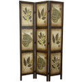 3-Panel Double Sided Floral Botany Plant Life Floral Leaves Room Divider Q280-ORF106253