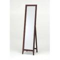 Contemporary Solid Wood Floor Mirror in Walnut Finish Q280-KMWF69951