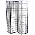Black 4-Panel Asian Style Shoji Room Divider Screen Q280-WHJRD75591