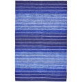 2' x 3' Striped Hand-Tufted Wool/Cotton Blue Area Rug Q280-SBCWR223