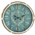Vintage Style 25-inch Nautical Blue Wall Clock Q280-CWNBWC1709253