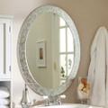 Oval Frame-less Bathroom Vanity Wall Mirror with Elegant Crystal Look Border Q280-DWFO5198485441