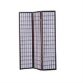 3-Panel Room Divider Asian Style Privacy Screen in Cherry Wood Finish Q280-ANWS49723