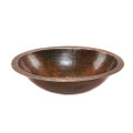 Oval Hammered Copper Bathroom Vessel Sink 17 x 12 inch Q280-PCBWCS19354271