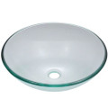 Crystal Clear Tempered Glass Round Bathroom Vessel Sink Q280-CLBSV8589817