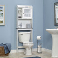 White Space Saving Over Toilet Bathroom Cabinet with 2 Adjustable Shelves Q280-SBCW5985142