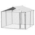 10ft x 10ft x 6ft Large Chain Link Outdoor Dog Play Pen House with Cover Q280-PHAOJF1488