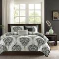 Twin / Twin XL 4-Piece Black White Damask Print Comforter Set Q280-TBDC5946721