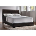 Queen size Dark Brown Faux Leather Upholstered Bed with Headboard Q280-CFQ1915151