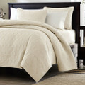Full / Queen Ivory Beige Quilted Coverlet Quilt Set with 2 Shams Q280-FQIS984451