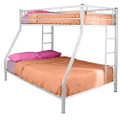 White Metal Twin over Full Bunk Bed Q280-WETOFB1991