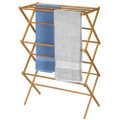 Folding Laundry Clothes Drying Rack in Bamboo Wood Q280-BFDR358169