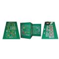 Roulette & Craps 2-Sided Casino Felt Layout Q280-COR2SCFL1310