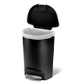 Black 13-Gallon Kitchen Trash Can with Foot Pedal Step Lid Q280-BTHGRC43897921