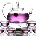 8-Piece Glass Teapot Set with 6 Glasses and Warmer Q280-BSGTPS5879361