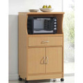Beech Wood Microwave Cart Kitchen Cabinet with Wheels and Storage Drawer Q280-HMCB541987741