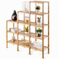 Bamboo Wood 5-Tier Versatile Bookcase Plant Stand Storage Rack Q280-DTEMBS56915042159