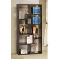 Modern Cube Contemporary Style Bookcase in Cappuccino Finish Q280-CBF127741