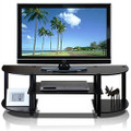Espresso & Black TV Stand Entertainment Center - Fits up to 42-inch TV Q280-FTVS5198451