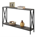 Weathered Grey Wood Console Sofa Table with Bottom Shelf and Metal Frame Q280-WGLRCT159857581