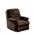 Comfortable Recliner Chair in Chocolate Brown Microfiber Upholstery Q280-AROCM179