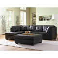 Black Bonded Leather Sectional Sofa with Left Side Chaise Q280-CBLS652