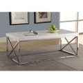 Modern Coffee Table in Glossy White with Chrome Metal Frame Q280-MWGC5198515