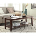 Espresso Wood Grain Coffee Table with Bottom Shelf Q280-CAHCT12099
