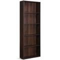 Modern 5-Tier Bookcase Storage Shelf in Brown Walnut Wood Finish Q280-WNBCWT18958743
