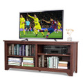 Medium Brown Wood TV Stand Entertainment Center for up to 60-inch TV Q280-MFEMCWTV90952304