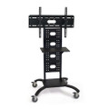 Mobile Flat Screen TV Stand Cart with Shelf and Universal Mounting Bracket Q280-LBMS291528