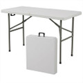 Multipurpose 4-Foot Center Folding Table with Carry Handle Q280-BCFD506316