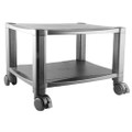Sturdy 2-Shelf Mobile Printer Stand Cart in Black with Locking Casters Q280-SPS36995