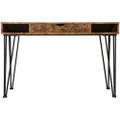 Farmhouse Rustic Home Office 1 Drawer Writing Desk Q280-CCFAJF1869