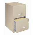 Locking 2-Drawer Vertical File Cabinet in Putty Color Q280-C2DVP6341