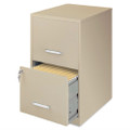 Metal Two Drawer Locking Vertical File Cabinet in Putty Color Q280-BTDFC519851