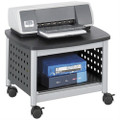 Under-Desk Printer Stand Mobile Office Cart in Black and Silver Q280-SPUBS5729
