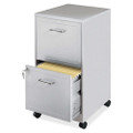 Gray Silver Metal 2-Drawer File Cabinet with Casters Q280-LGMF51985171