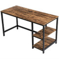 55 Inch Industrial Wood Metal Computer Writing Desk Left or Right Facing Q280-JFSD55X8
