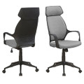 Grey Black Ergonomic Adjustable Microfiber High Back Executive Office Chair Q280-GBAOQ7258