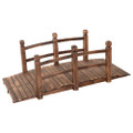 Solid Fir Wood 5-Ft Arch Garden Bridge Walkway - Great for Pond Landscaping Q280-GFWGBCS198241