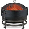 Heavy Duty Steel Cauldron Wood Burning Fire Pit with Spark Screen and Stand Q280-HDSWBFP1297658