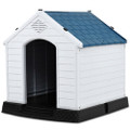 Medium size Outdoor Heavy Duty Blue and White Plastic Dog House Q280-MHCE898275814