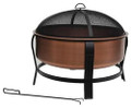 Rustic Copper Fire Pit Tub with Screen Cover Q280-PCSWFPH760
