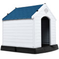 Small Outdoor Heavy Duty Blue and White Plastic Dog House Q280-SMHCYE8979381