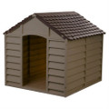 Large Heavy Duty Outdoor Waterproof Dog House in Brown Polypropylene Q280-BAGDH981213