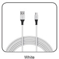 6 Ft. Fast Charge and Sync Round Micro USB Cable-WHITE
